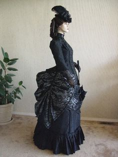 Victorian Promenade Dress side Christine Hall designs