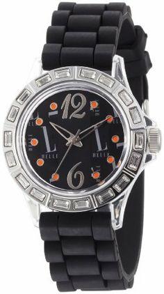 L by ELLE Women's LE50012P05 Black Plastic Stones Silver-Tone Bezel Watch L by ELLE. $14.04. Black plastic watch. Japan Analog-Quartz movement. Black dial watch. Water-resistant to 33 feet (10 M). Fashion plastic analog watch