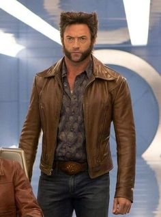 Days of Future Past Hugh Jackman Wolverine X Men leather Jacket buy at our online store in discount rate and also get world wide shipping. Hugh Michael Jackman, Hugh Jackman, Cyclops X Men, X Men Evolution, Logan Wolverine, Logan Xmen, Days Of Future Past, Men's Day, Super Hero Costumes
