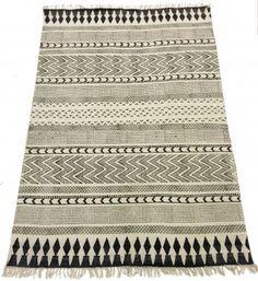 Rag rugs - Marrakech (black/grey/white)