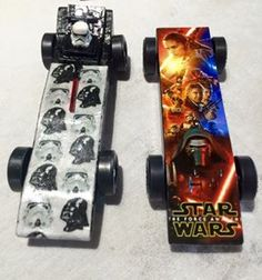 Star Wars Pinewood derby cars
