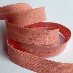 Biais uni en coton 10mm - vieux rose