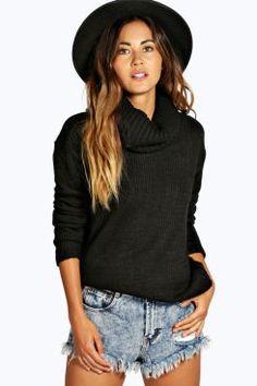 Emma Cowl Neck Soft Knit Jumper at boohoo.com