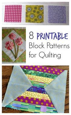 """""""Patterns for Quilting: 8 Free Quilt Block Patterns to Make a Quilt for Your Home"""" eBook 