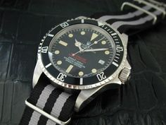 Swiss Rolex Oyster Vintage Military Subariner Stainless Steel Mens Watch