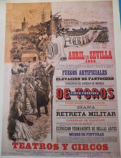 Cartel de Las Fiestas de Primavera de Sevilla 1888