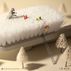 Surprise attack. miniature photography - incredibly enchanting and surreal worlds made of little people - It's a small world afterall! Creative macro lens photography