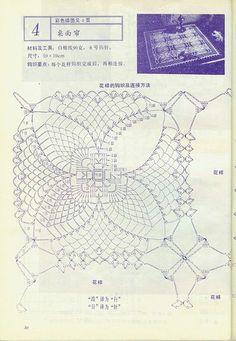 Crochet: two square doilies