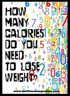 Guide to helping you calculate how many calories you need to eat to reach you weight loss goal, gain weight, or maintain your healthy weight. Weight Loss Goals, Fast Weight Loss, Weight Loss Program, Weight Gain, Body Weight, Fitness Tips, Health Fitness, Mommy Workout, To Loose