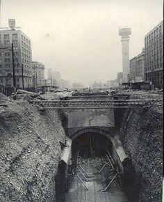 Contruccion linea 1 del metro y la torre entel !