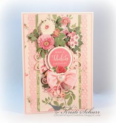 Cottage Rose Birthday Card