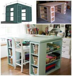 Craft Room Desk DIY Easy Video Tutorial