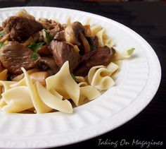 Beef and Mushroom Stroganoff from Cooking Light via Taking On Magazines