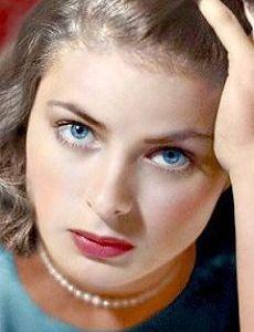 Ingrid Bergman (August 15, 1915 - August 29, 1982) Swedish actress.