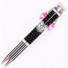 cute heart pearl mechanical pencil Herz charm Japan 1