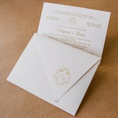 Convites de casamento tradicional - por Papel e Estilo - Loja de Convite Online - www.lojadeconvite.com.br