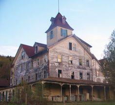 """Old Abandoned Building in Tannersville, New York"" | New Media, Saatchi Art Artist, Lisa Miller"