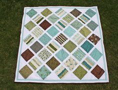 Absolutely GENIUS idea for DIY machine quilting a large-size quilt using a standard sewing machine.  Love.