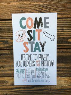 PUPPY PARTY | Puppy Birthday Party Invitation | Dog Themed Birthday Invitation | Dog | Puppy Invite | Puppy Party | Puppy Party Theme Invite by chasingprints on Etsy www.etsy.com/...