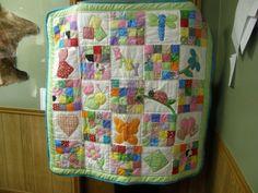 Custom Baby Girl Quilt. $45.00, via Etsy.
