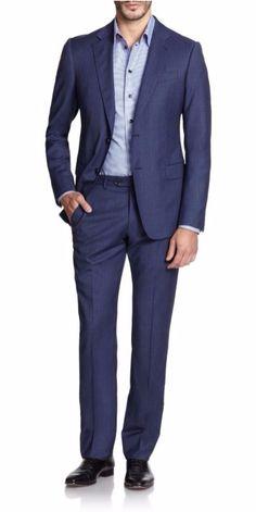 Armani Collezioni | Striped Wool Suit | SAKS OFF 5TH