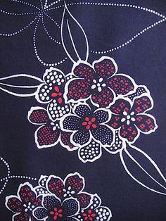 Cotton japanese yukata kimono fabric indigo blue by GreatTextiles, on etsy. Enjoying japanese kimono fabrics at the moment