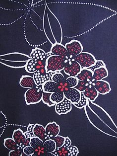 Cotton japanese yukata kimono fabric indigo blue by GreatTextiles, on etsy. Enjoying japanese kimono fabrics at the moment