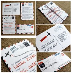Airmail Wedding Travel theme