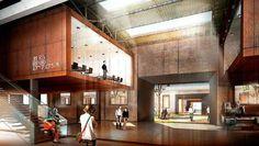 Brick Architecture, Architecture Visualization, Interior Architecture, Atrium Design, Interior Design Process, Tiny Apartments, Le Corbusier, Master Plan, Commercial Interiors