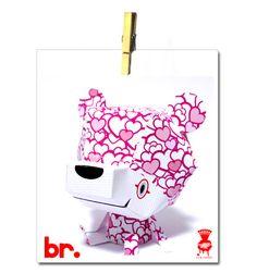 valentine bear papercraft
