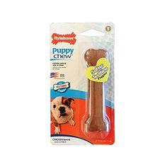 Hueso de Nylon para Cachorros con Sabor a Pollo - Nylabone® Puppy Chew Puppy Teething, Chicken Flavors, Puppies, Dog Toys, Pets, Chicken, Cubs, Pup