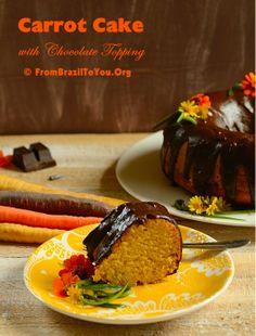 Brazilian Carrot Cake (blend the carrots for silky cake)