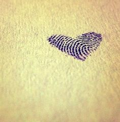 Boyfriend/Girlfriend fingerprint tat-so cute ❤