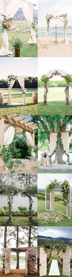 Creative wedding ceremony altars ideas