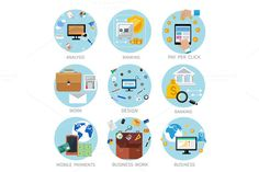Icons Set for Business by robuart on Creative Market
