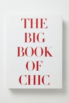 Big Book Of Chic - Anthropologie.com