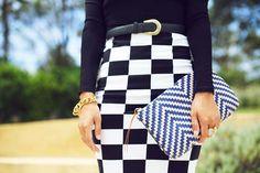 Tendência: Estampa tabuleiro de xadrez | Just Lia