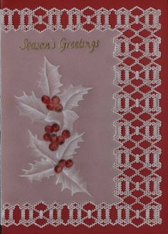 pattern available from www. Vellum Crafts, Vellum Paper, Paper Cards, Parchment Design, Parchment Cards, Newspaper Crafts, Theme Noel, Craft Patterns, Creative Cards
