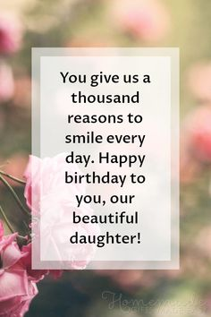 Happy Birthday Wishes for Daughters - Best Messages & Quotes - Birthday Wishes for Daughter Happy Birthday Beautiful Daughter, Happy Birthday Quotes For Daughter, Happy Birthday Baby Girl, Funny Happy Birthday Messages, Happy Birthday Best Friend, Happy Birthday Wishes Quotes, Birthday Poems, Birthday Wishes For Myself, My Daughter Quotes