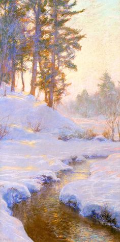 ☼ Painterly Landscape Escape ☼ landscape painting by Walter Launt Palmer | On the Flykill, c. 1911-13
