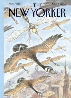 """The New Yorker - Monday, April 17, 2000 - Issue # 3886 - Vol. 76 - N° 8 - Cover """"The Bite of Spring"""" by Peter de Sève"""