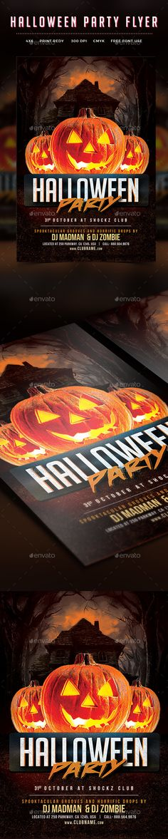 halloween flyers design template download httpsgraphicrivernetitem halloween - Free Halloween Flyer Templates
