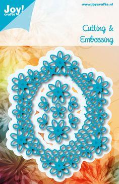 6002/0975 Noor! Design Blauw Ovaal bloemen