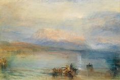 """🎨 """"The Red Rigi"""" (1842)  By Joseph Mallord William Turner R.A., from Covent Garden, London (1775 - 1851)"""