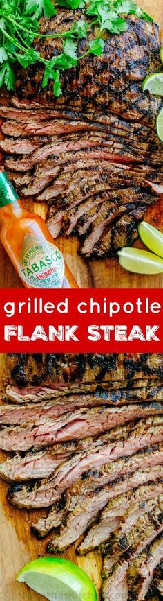 Go-to flank steak recipe! The marinade is so easy with just a few ingredients… #sponsored #Tabasco10| http://natashaskitchen.com