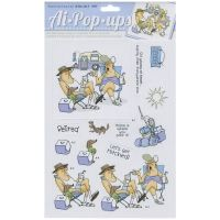 """Art Impressions People Cling Rubber Stamp 7""""X4""""-Fire Out - ValuCrafts.com"""