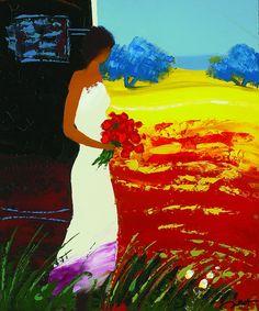 """Nature Luxuriante"" (2012), Emile Bellet -the faceless woman artist. I do enjoy this artist."