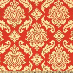 Amazon.com: 44'' Wide Aviary 2 Damask Saffron Fabric By The Yard: joel_dewberry: Arts, Crafts & Sewing