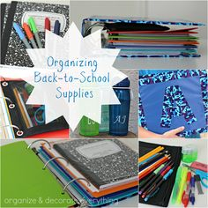 Organizing Back-to-School Supplies - Organize and Decorate Everything