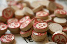 Wooden Bingo Call Numbers
